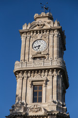 Dolmabahce Clock Tower in Istanbul