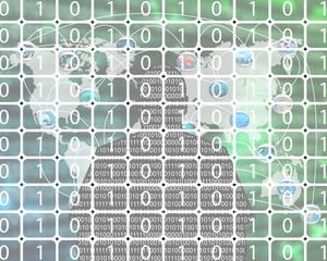 background of binary code