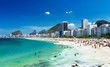 Leinwandbild Motiv view of Copacabana beach in Rio de Janeiro, Brazil