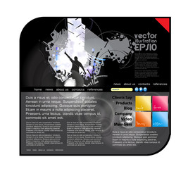 Web design template with music event. Vector