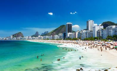 widok z plaży Copacabana w Rio de Janeiro, Brazylia