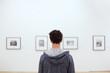 Leinwanddruck Bild - people at museum