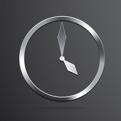 Vector clock icon background