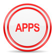 apps red white glossy web icon
