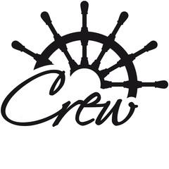 Crew Steuerrad Rang Logo