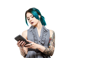 Young professional female with tattoos