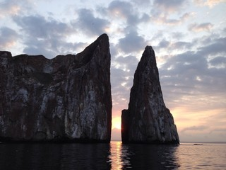 sunrise kicker rock galapagos islands