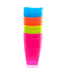 Coloeful plastic cup