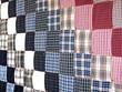 plaid patchwork quilt
