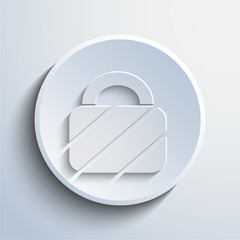 Vector padlock web icon background