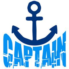 Captain Rang Abzeichen Anker