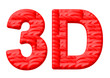 kırmızı 3D tasarımı