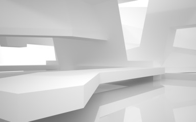 Abstract Architecture. abstract white building on a white backgr