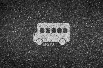 Bus road and asphalt background texture with some fine grain in