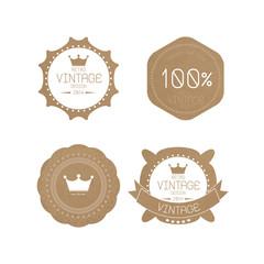 Set of grunge paper texture retro vintage badges and labels