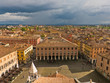 Cityscape of Lucca, medieval town situated in west Tuscany