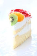 Fruit cheesecake of health dessert.