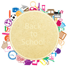 Back to School on paper Seamless children background