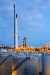 Landscape of oil refinery factory