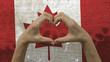Hands Heart Symbol Canadian Flag