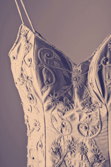 Gorgeous vintage wedding dress detail