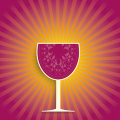Wine Glass Retro Shine