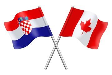 Flags: Croatia and Canada