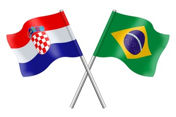 Flags: Croatia and Brazil