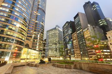 night scene of modern city,Hong Kong