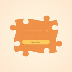 Puzzle Subscription Web Element