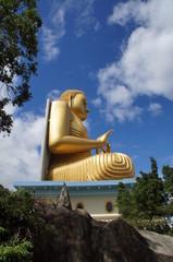 Großer Buddha von der Seite aus Gold