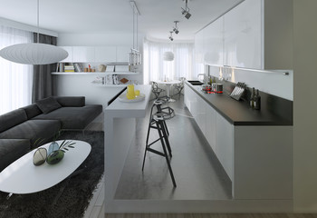 Dining kitchen, Scandinavian style
