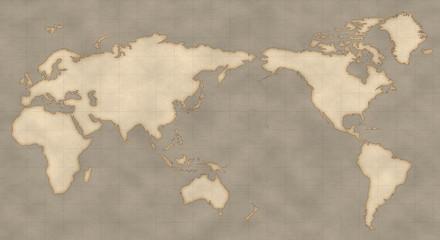 アンティーク風な世界地図