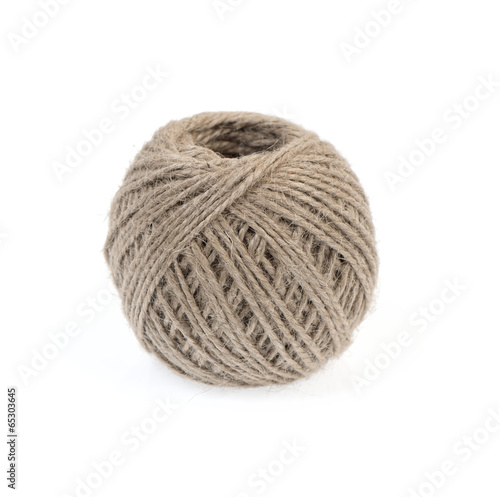 Ball of twine isolated on white.