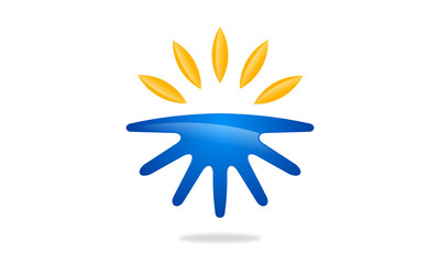 sun and land logo