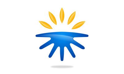 sun and land logo