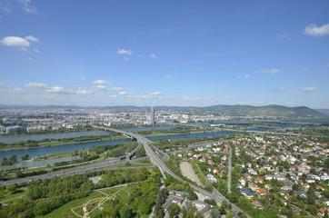 Wien mit Blick vom Donauturm