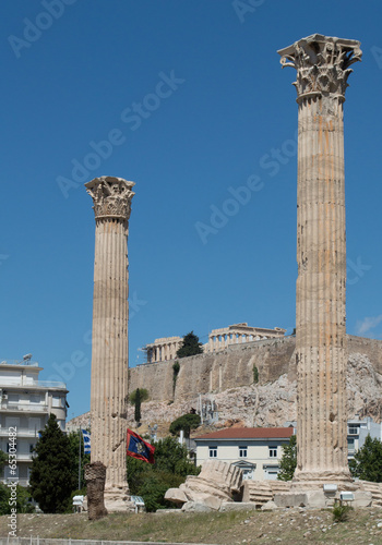 Temple of the Olympian Zeus and the Acropolis