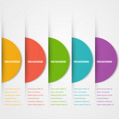 Abstact circles template. Color icon. Vector.