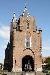 City gate The Amsterdamse Poort in Haarlem
