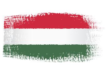 brushstroke flag Hungary