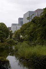 Tokyo skyscraper with garden
