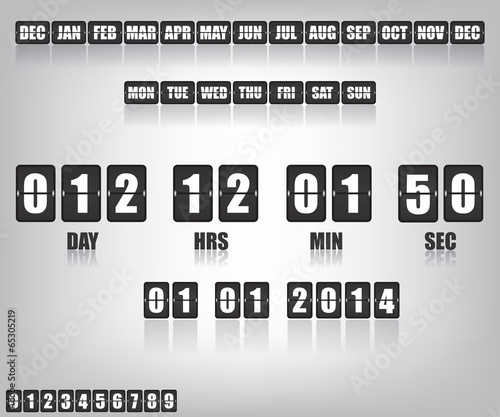 Countdown Timer and Date - 65305219