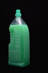 Green Shampoo Bottle