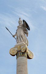 Athena, Ancient Greeks' goddess of heroic endeavor and wisdom