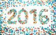 Carnival 2016 date confetti isolated