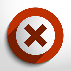 Vector cross web icon