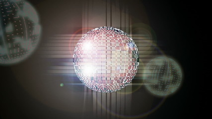 Shiny abstract party design with Disco ball animated.