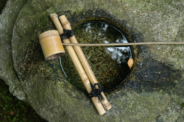 Stone,water and bamboo