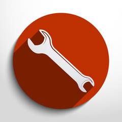 Vector repair web icon